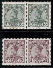 PORTUGAL 1910 Old 2 Pair of Mint Stamps - King Manoel