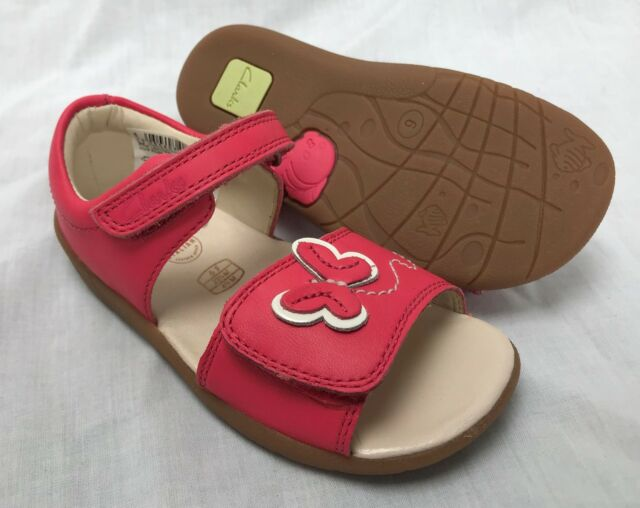 2349a378dc7c89 BNIB Clarks Girls Kiani Sun Pink Italian Leather First Sandals F/G Fitting