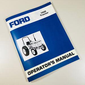ford 1920 tractor operators owners manual ebay rh ebay com ford 1920 tractor operator manual ford 1920 tractor manual pdf