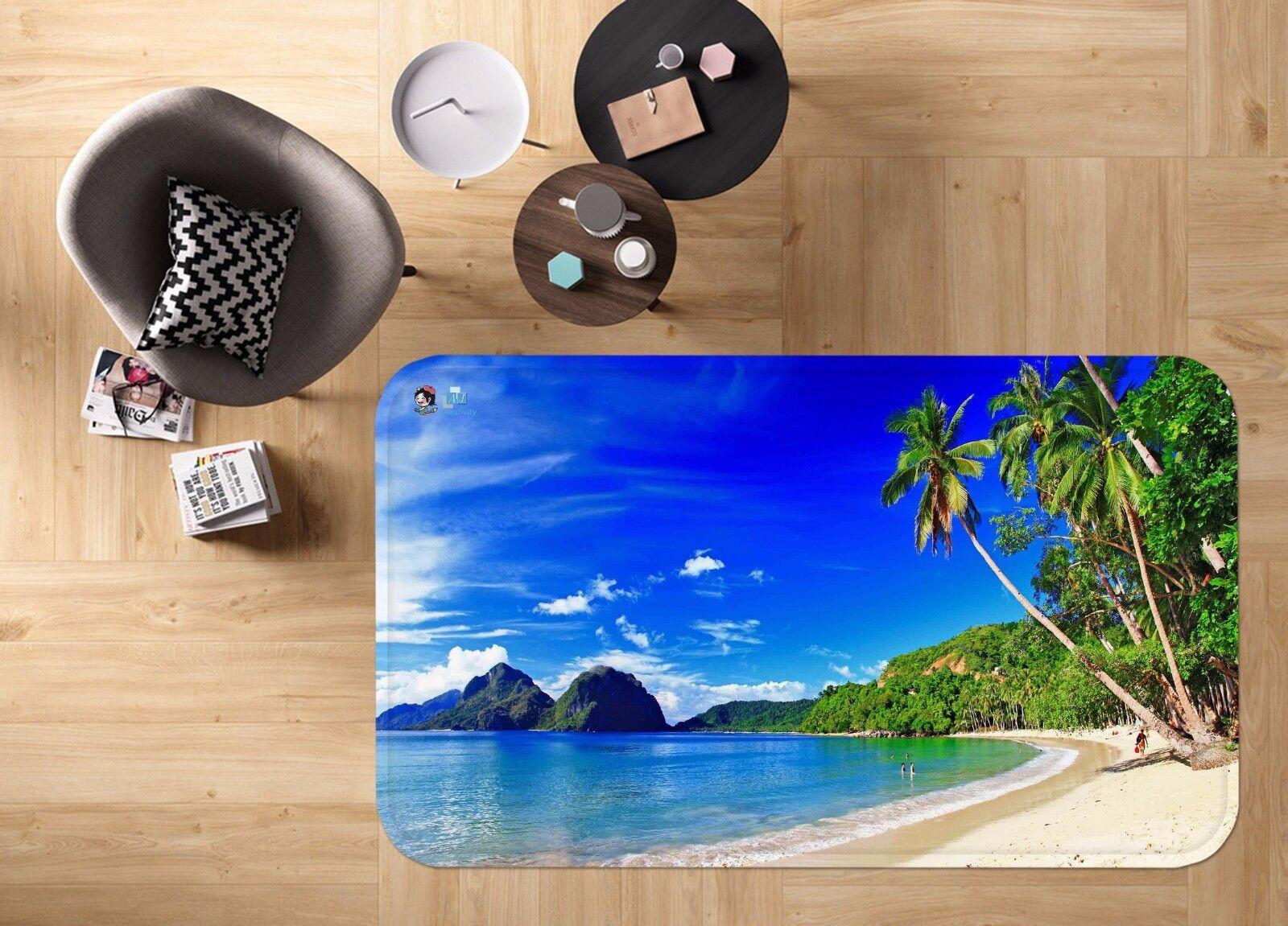 3D verde Plam 56 Non Slip Rug Mat Room Mat Quality Elegant Photo Carpet US