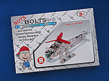 ENGINEERING SET NUTS & BOLTS HELICOPTER  WITH TOOLS METAL