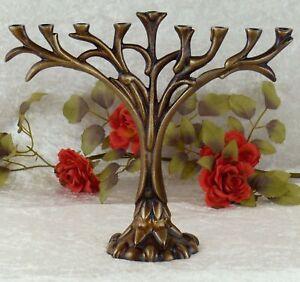 Kerzenleuchter-Baum-Chanukkia-Davidleuchter-Leuchter-Kerzenstaender-Menora-Deko