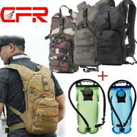 Bike Bicycle Hydration Pack Shoulder Backpack + 2l 3l Water Bag Cycle Hiking Dd