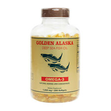 Alaska Deep Sea Fish Oil Omega 3 DHA/EPA 1000 mg 200 Softgels FRESH SHIPPING