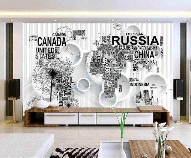 3D Country World Map 7 Wall Paper Murals Wall Print Wall Wallpaper Mural AU Kyra