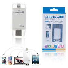 64G i-Flash Drive USB 8pin U Disk Memory Stick Adapter For Apple iPhone IOS