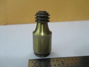 ANTIQUE BRASS circa 1890's BECK OBJECTIVE LENS OPTICS MICROSCOPE PART &F4-A-12