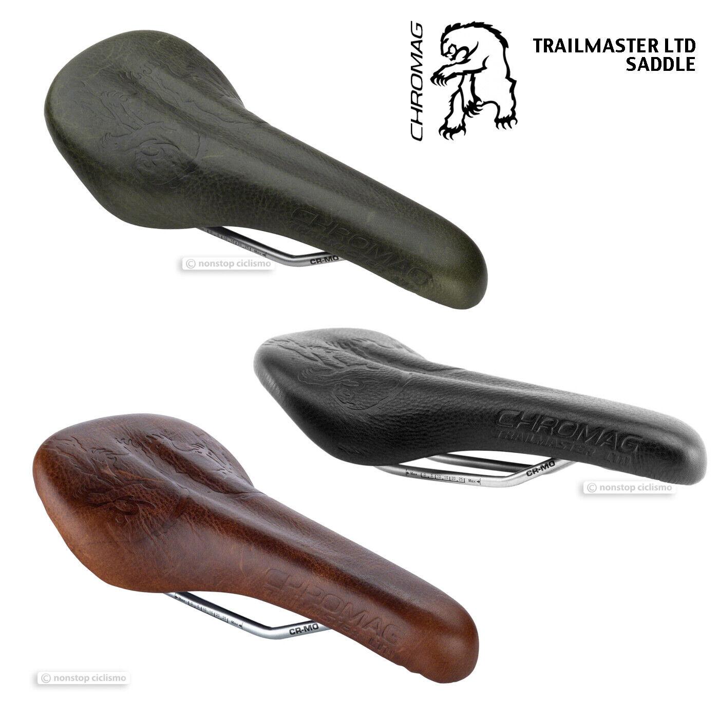 Nuevo Chromag TRAILMASTER limitado de cuero bicicleta de montaña Bicicleta De Montaña sillín Negro-Colors