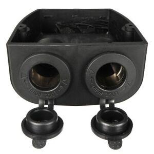 Dual-Car-Boat-Cigarette-Lighter-Socket-Splitter-12V-Charger-Power-Adapter-Plu-FP