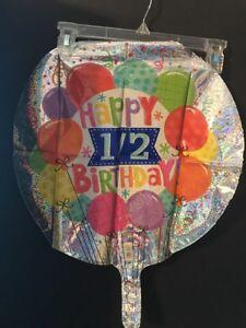 Image Is Loading Glittery Happy 1 2 Birthday Foil Balloon 17