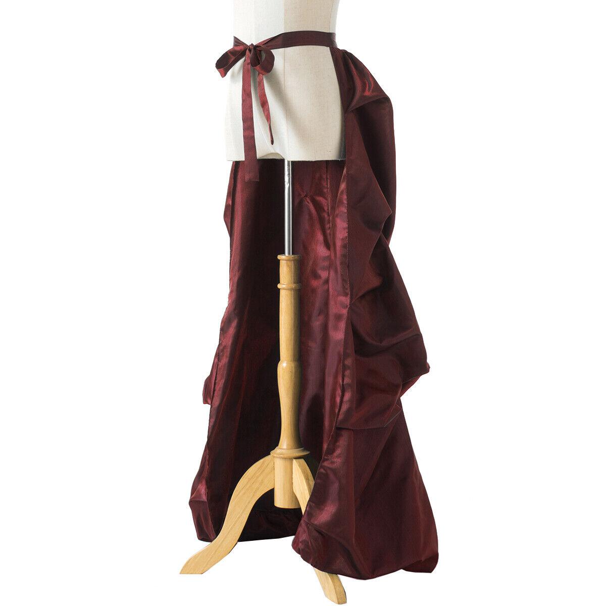 Vintage Victorian Edwardian Bustle Skirt Fancy Dr… - image 6