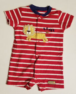 5222d72c6 Just One You by Carter's Baby Boy's Short Sleeve Romper Size 12 ...