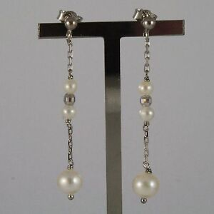 White-Gold-Earrings-750-18K-With-White-Pearls-of-Water-Dolce-Round