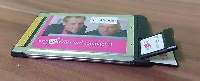 Umile T-mobile Web 'n' Walk Card Compact Ii Pcmcia Modem 3g-opzione Qualcomm Gx0201-