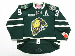 MITCH-MARNER-LONDON-KNIGHTS-AUTHENTIC-GREEN-OHL-CCM-EDGE-2-0-7287-HOCKEY-JERSEY