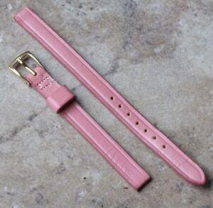 Pink-Saddle-Leather-vintage-watch-ladies-8mm-5-16-strap-vintage-1950s-60s-NOS