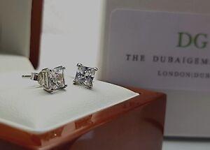 White-gold-finish-Princess-cut-created-diamond-5mm-stud-earrings