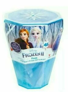 Disney-Frozen-II-Surprise-Puzzle-in-Plastic-Gem-Shaped-Re-Usable-Case-48-Pc-NEW