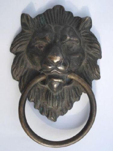 "Chinese Bronze féroce lion Head Door Knocker 4.4/"" Haute"