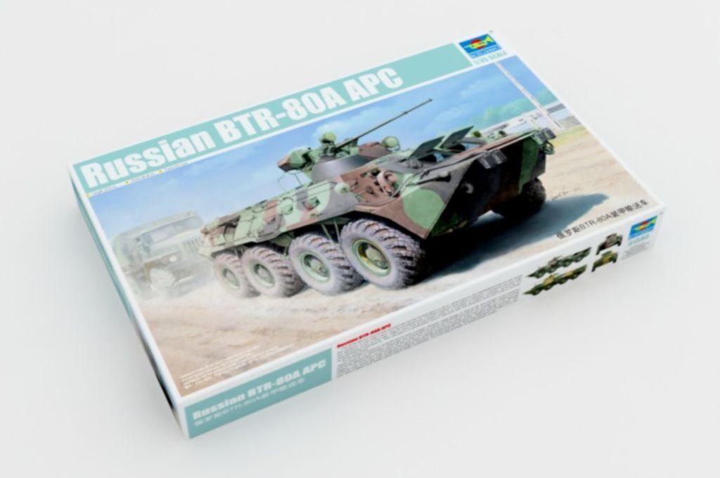 ◆ Trumpeter 1 35 01595 Russian BTR-80A APC