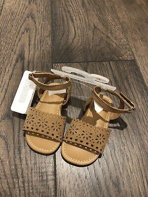 Girls Sandals brown NWT adjustable size 7 8,