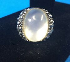 Michael Dawkins Sterling Silver 925 Starry Night Mother of Pearl Ring Size 7 OV