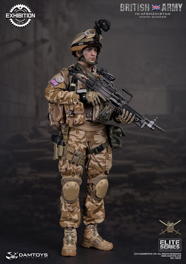 DAM 2016 Exhibition Limited armée britannique en Afghanistan Minimi mitrailleur 1 6 Figure