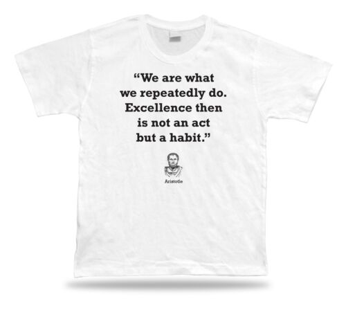 Aristotle Philosophy Quote Home t-shirt Decoration BEST TEE proverb Special Gift