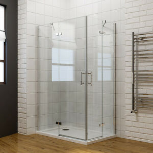 Image Is Loading Frameless Corner Shower Enclosure Cubicle And Tray 6mm