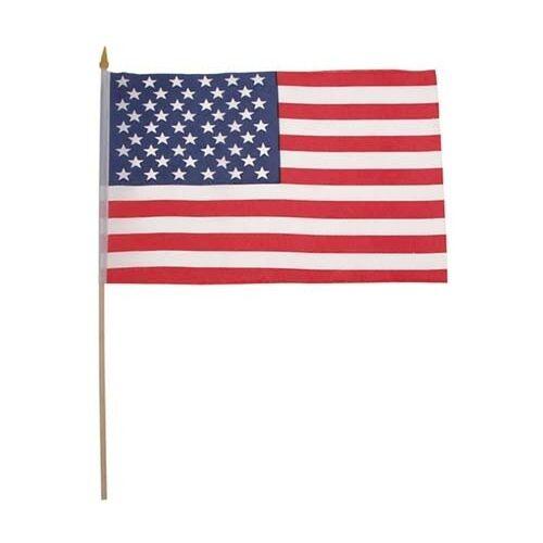 Fahne USA Polyester Holzstiel Gr. 30x45 cm