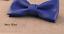 Cuir-Noeud-Papillon-Homme-Femme-Qualite-Marron-Noir-Blanc-Rouge-Bleu-Argent-Dore miniature 9