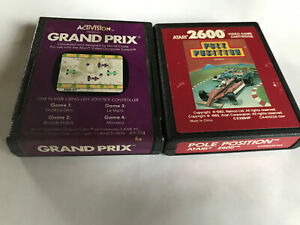 Pole-Position-amp-GRAND-PRIX-FORMEL-1-Racing-CART-Bundle-Atari-2600-7800