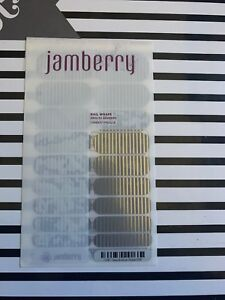 Nail Art Accessories Gray And Silver Stripe **retired*** Jamberry Full Sheet Health & Beauty