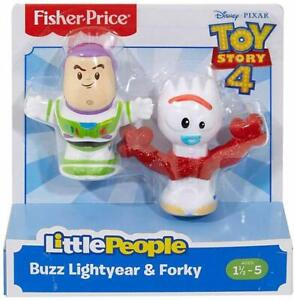 Fisher Price Little People Toy Story 4 BUZZ LIGHTYEAR & FORKY Figure 2-Pack