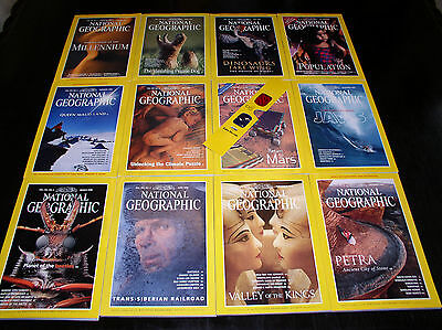 12 NATIONAL GEOGRAPHIC MAGAZINE COMPLETE SET 1998