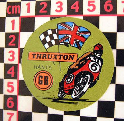 1960/'s Thruxton Sticker Norton Triumph BSA AJS Triton Cafe Racer Honda
