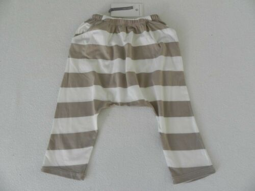Bellybutton Pantalon baggy unisexe taille 80 neuve beige blanc rayé