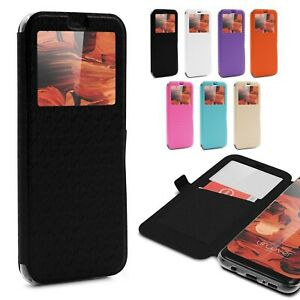 Urcover-for-Apple-Samsung-Sony-Huawei-Smart-View-Case-Flip-Wallet-Stand-Cover
