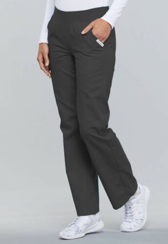 Pewter Cherokee Scrubs Flexibles Mid Rise Knit Waist Pull On Pants 2085 PWTB