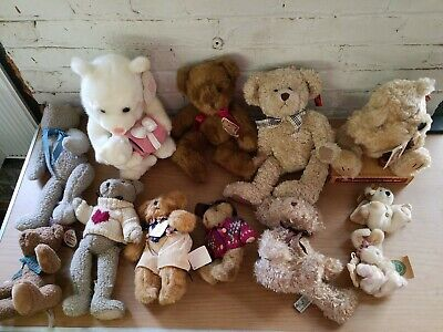"""Lot of 2 Plush Teddy Bears /""""100th Anniversary Collection/"""" By Russ Tags Attached!"""