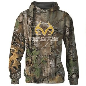 29ce9d5b6d2 Image is loading Realtree-Camo-Boys-Hoodie-Youth-Kids-Hooded-Sweatshirt-