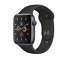 Apple-Watch-Series-5-44mm-alluminio-grigio-siderale-GPS-cinturino-sport-nero miniatura 1