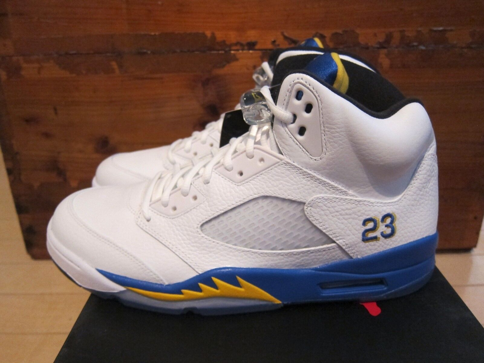 Nike Air Jordan 5 V Retro Laney Blue Yellow Maize White size 11.5