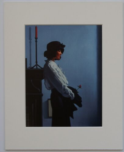"A Valentine Rose by Jack Vettriano Mounted Art Print 10/"" x 8/"""