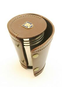 Royal Scots Dragoon Guard 4 Stacking Stirrup Shot Cups In Leather Case New Bkg26 Ckpwtwnh-08001830-692793376