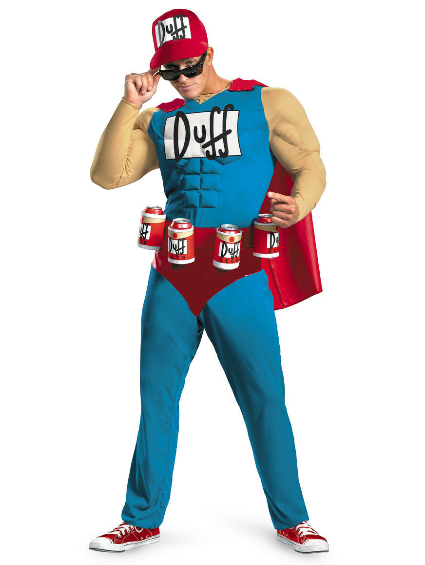 Mens Simpsons Duffman Fancy Dress Duffman Costume Beerman Fancy Dress Costume