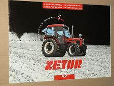 Prospectus  Tracteur ZETOR Gamme 3320 6340  tractor traktor prospekt brochure