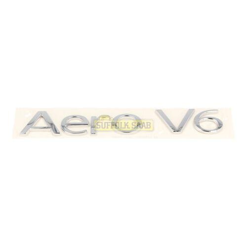 Saab 93 9-3 9440 09-10my Saloon Aero v6 Chrome Boot Badge Emblem 12782972 RARE