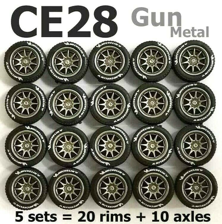 comprar ahora 1 64 64 64 neumáticos de goma-CE28 Llanta Metal de arma ajuste Hot Wheels Matchbox Diecast - 5 Juegos  encuentra tu favorito aquí