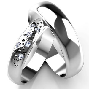 White-Gold-Diamond-Set-Band-His-and-Hers-set-of-Wedding-Rings-4-and-5mm-widths